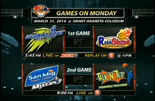 Monday Showdown: Globalport vs ROS; Coffee Mixers against TNT - Pinoy Basketball